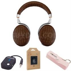 Zik 3 Wireless Noise Cancelling Bluetooth Headphones (Brown Croc) Mobile Bundle