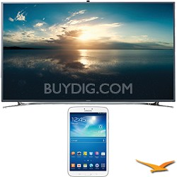 "UN65F9000 - 65"" 4K Ultra HD 120Hz 3D Smart LED TV - 8-Inch Galaxy Tab 3 Bundle"