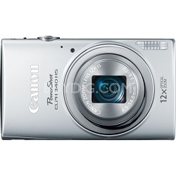 PowerShot ELPH 340 HS 16MP 12x Zoom 3-inch LCD - Silver