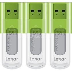 32 GB JumpDrive High Speed USB Flash Drive (Green) 3-Pack (96 GB Total)