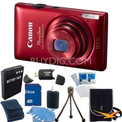 PowerShot ELPH 300 HS Red Digital Camera 16GB Bundle