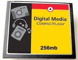 256MB Compact Flash Memory Card ( A Necessity)