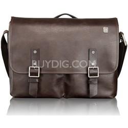 T-Tech Forge Bingham Leather Messenger 054170B - Brown