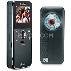 Ze1 Playfull Mini Pocket Blue Black Camcorder Video Camera
