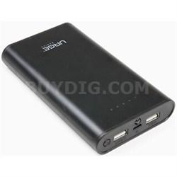 PowerPro 12,000mAh Universal Dual Port Backup Battery Charger, Black