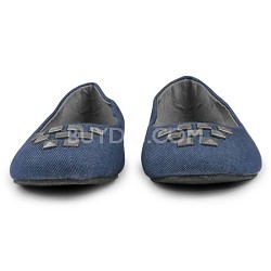 Denim Flat Womens Shoe Size 9