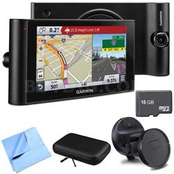 "dezlCam LMTHD 6"" GPS Truck Navigator w/ Dash Cam Deluxe Magnetic Mount Bundle"