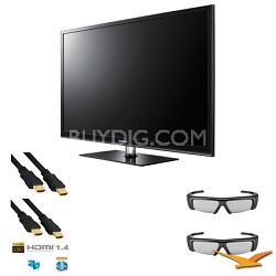 PN43D490 43 inch 3D 600hz Plasma HDTV 3D KIT