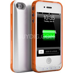 DX-Lite Protective Battery Case for iPhone 4 & iPhone 4S (White Orange)