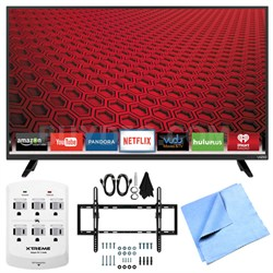 "E48-C2 - 48-"" E-Series 120Hz 1080p Smart LED HDTV Plus Tilt Mount Hook-Up Bundle"