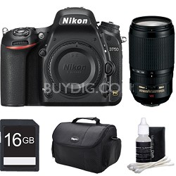 D750 DSLR FX Digital Camera with 70-300mm VR Zoom Lens 16GB Bundle
