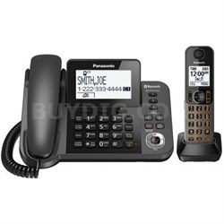 Corded Phone and Answering Machine with 1 Cordless Handset - KX-TGF380M