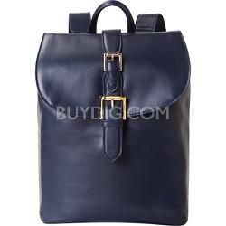 """Isaac Mizrahi """"KATHRYN"""" Mini Camera Backpack in Genuine Leather - Blue"""