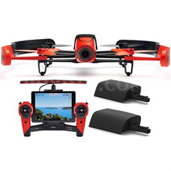 BeBop Drone 14 MP 1080p Fisheye Camera w/ Skycontroller + 2nd Battery  (Red)