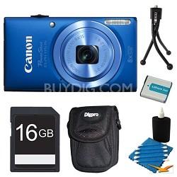 Powershot ELPH 115 IS Blue Digital Camera 16GB Bundle