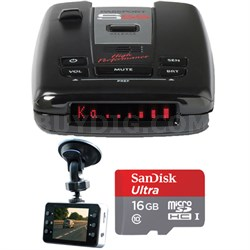 Passport S55 High Performance Radar & Laser Detector w/HD Dash Cam +16GB SD Card
