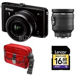 1 J3 14.2MP Camera with 10-30 and 10-100 VR Lenses Bundle - Factory Refurbished