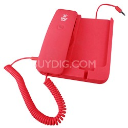Handheld Phone and Desktop Dock for iPhone,Ipad & Android - Red