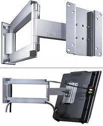 """Smart Mount Articulating Arm for 10"""" to 22"""" LCDs (Silver)"""
