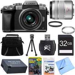 LUMIX G7 Interchangeable Lens 4K Ultra HD DSLM Camera 14-42mm Lens Deluxe Bundle