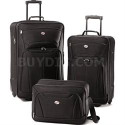 Fieldbrook II Three-Piece Luggage Set (Black) - OPEN BOX