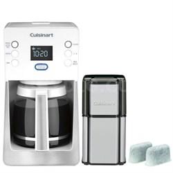 Perfec Temp 14-Cup Programmable Refurb White Coffeemaker w/ Refurbished Bundle