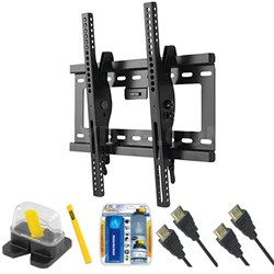 "DIY Basics Large Size Tilt TV Mount & Set Up Kit for 37""-70"" TVs up to 90LB"