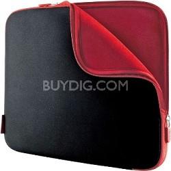 "Neoprene Notebook Sleeve for Notebooks up to 17"" Jet/Cabernet"