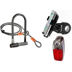 KryptoLok Series 2 Bicycle U-Lock w/ 4-Foot Flex Cable - Riding Enthusiast Kit