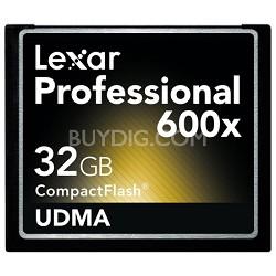 Professional 600x Compact Flash 32 GB Memory Card