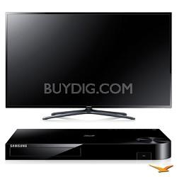 "UN55F6400 55"" 120hz 1080p 3D Smart WiFi Slim LED HDTV and Blu-ray Bundle"
