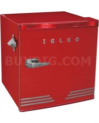 1.6 cu ft Retro Compact Refrigerator with Side Bottle Opener - Red
