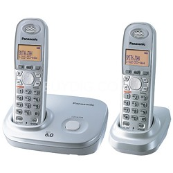 KX-TG6312S DECT 6.0 Expandable Digital Cordless Phone with 2 Handsets