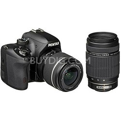 K-50 Digital SLR Camera Kit with 18-55mm AL WR Lens + DA L 55-300mm ED Lens