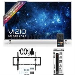 "P50-C1 SmartCast P-Series 50"" Class Ultra HD HDR TV w/ Tilt Wall Mount Bundle"