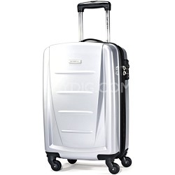"Winfield 2 20"" Carry On Hardside Spinner Luggage (Silver)"