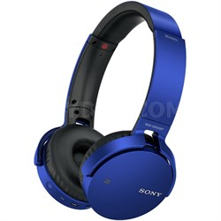 MDR-XB650BT XB Series Wireless Bluetooth Headphones w/ Extra Bass - Blue