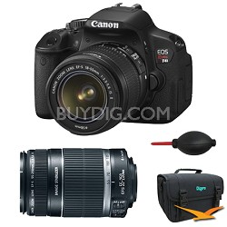 EOS Digital Rebel T4i 18MP SLR Camera 18-55mm & 55-250mm Bundle Deal