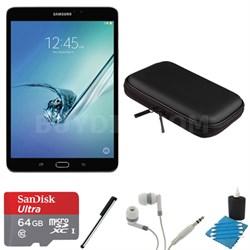 Galaxy Tab S2 8.0-inch Wi-Fi Tablet (Black/32GB) 64GB MicroSD Card Bundle