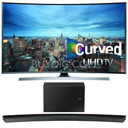 UN65JU7500 - 65-Inch 2160p 3D Curved 4K UHD Smart TV w/ HW-J8500 Soundbar Bundle