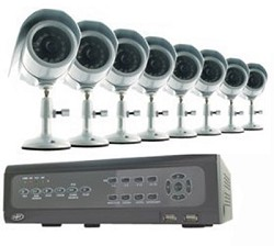 Do-it-Yourself DVR Security System with 8 Indoor/Outdoor Night Vision CCD Cams