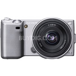 Alpha NEX-5 Interchangeable Lens Silver Digital Camera w/ 16mm Lens