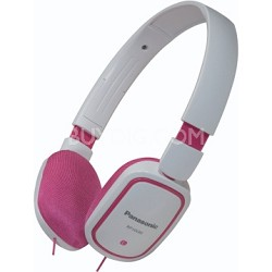 RP-HX40-PW Slimz Light Weight On Ear Headphones (Pink/White)