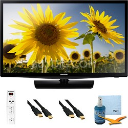 UN24H4000 - 24-inch 720p HD Slim LED TV CMR 120 Plus Hook-Up Bundle