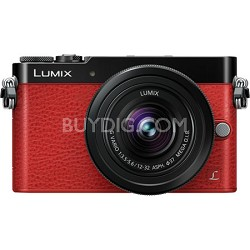 LUMIX GM5 Interchangeable Single Lens (DSLM) Red Camera Plus 12-32mm Lens