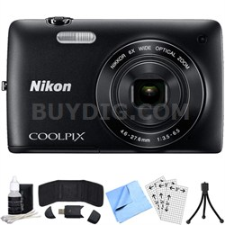 COOLPIX S4200 16MP 3-inch Touch Screen Digital Camera (Black) Refurbished Bundle