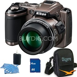 COOLPIX L120 Bronze Digital Camera 4GB Bundle