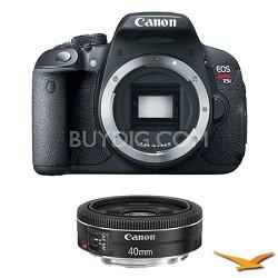 EOS Rebel T5i 18MP SLR Digital Camera and EF40mm f/2.8 STM Pancake Lens