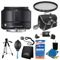 19mm F2.8 EX DN ART Black Lens for Sony Filter Bundle