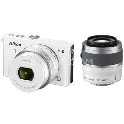 1 J4 Mirrorless Digital Camera with 10-30mm and 30-110mm Lenses - White